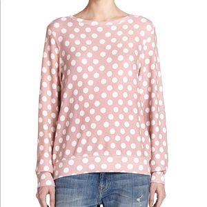 ▪️Wildfox▪️Polka dot sweatshirt In pink